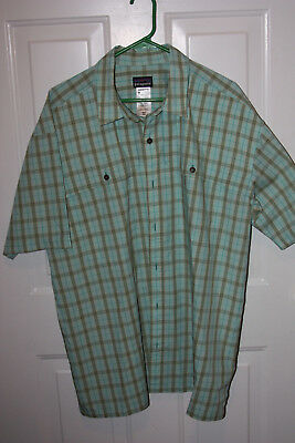 PATAGONIA Mens Green Brown Plaid Shirt Size XXL EXCELLENT CONDITION!!