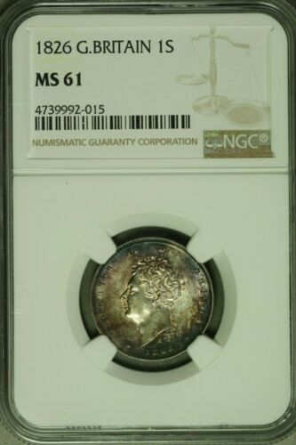 Great Britain 1826 Shilling  NGC MS61