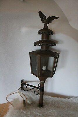 Antike Kutschenlaterne Messing / Wandlampe / Kutschenlampen ca.1930 Dekoration