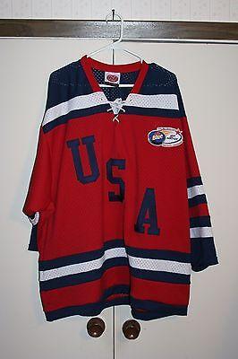 USA Hockey Pond Championship Labatt Sewn Jersey Multi Team USA XL NHL Athletic