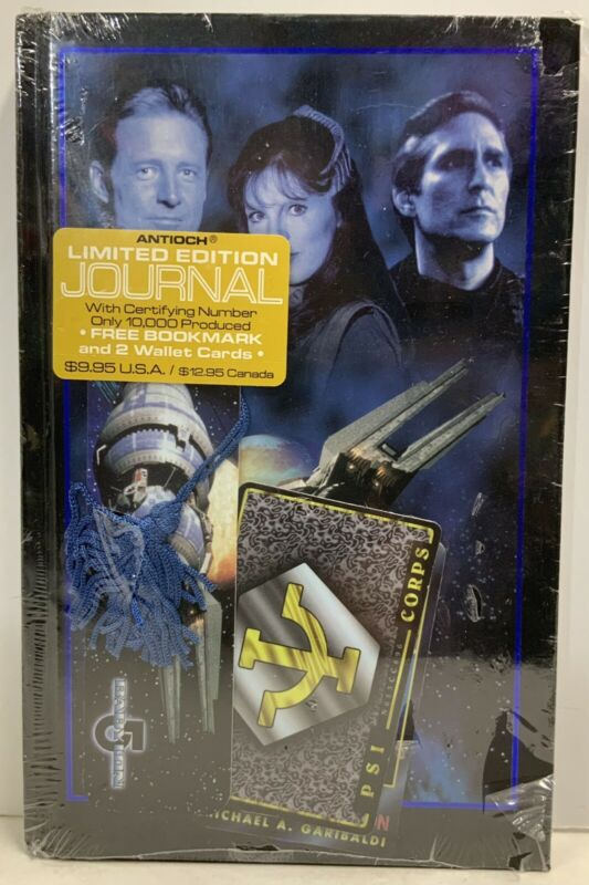 Babylon 5 Numbered Limited Edition Antioch Journal With Bookmark & 2 Wallet Card