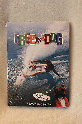 FREE AS A DOG DVD - A True Dog's Tale Surfing Video NEW