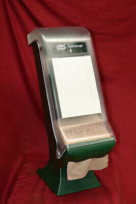 Tork Xpressnap Classic Stand Napkin Dispenser 45xps Cleargreen With Manual
