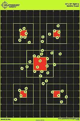 "12""x18"" Sight in Splatterburst Target - Instantly See Your Shots Burst Bright..."