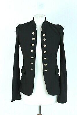 jennifer taylor black polyester slim fit long sleeve woman jacket size EU M
