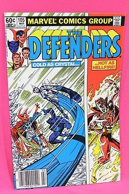 The Defenders #105 Cold as Crystal Hot as Hellfire Marvel Comics Comic F/F+