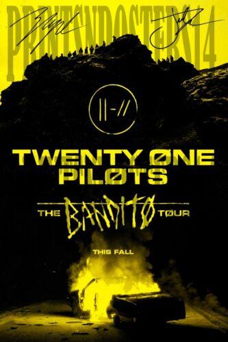 Twenty One Pilots 12x18 SIGNED REPRINT Josh Dun & Tyler Joseph TOUR Poster