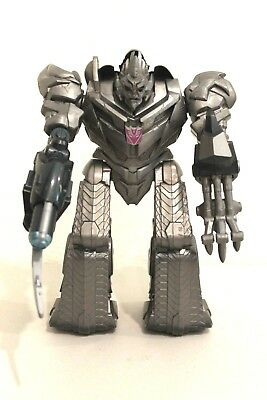 "Transformers Talking/Light Up Megatron Robot Figure Gray 11"" 2009 Hasbro Tested"