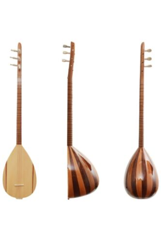 Turkish Short Neck Handmade Mahogany Maple Cura (Small Baglama Saz)