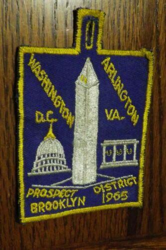BOY SCOUT PATCH 1965 BROOKLYN PROSPECT DISTRICT WASHINGTON DC ARLINGTON VA