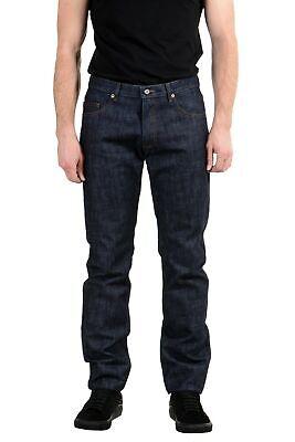 Versace Jeans Men's Dark Blue Regular Fit Straight Leg Jeans Size 33 34 36