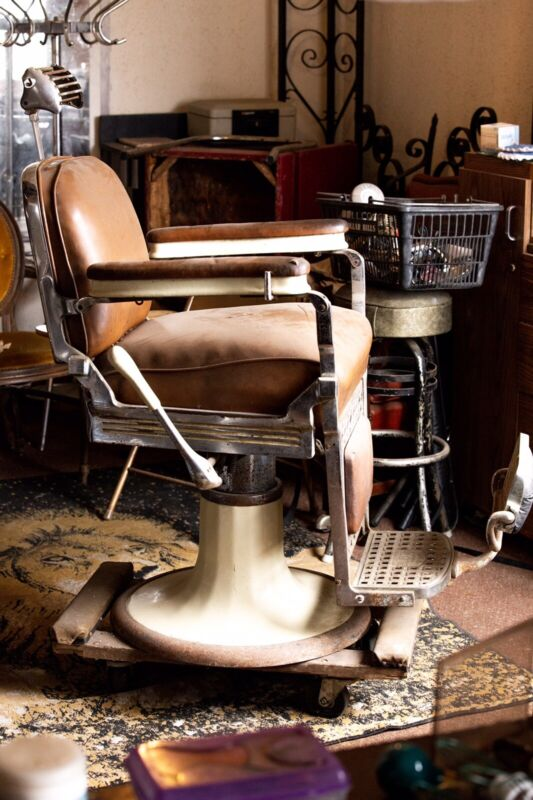 Emil J. Paidar Antique Barber Chair, Made in Chicago Authentic