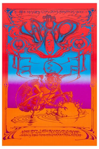 ROCK: The Who at Hollywood Palladium * Psychedelic * Concert Poster 1969  12x18