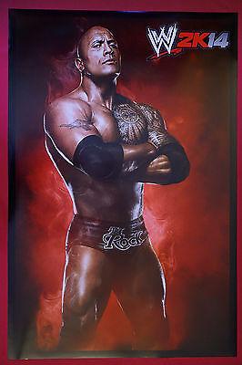 Dwayne Johnson The Rock Wrestler W2k14 Wrestling Photo Picture Poster 24X36 New