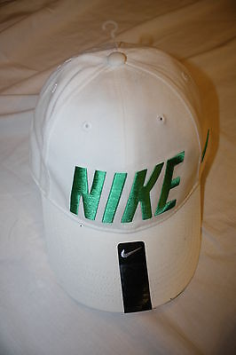 NWT NIKE CAP/HAT YOUTH OR WOMENS~LEGACY 91~WHITE & LIME GREEN~CHEAP!