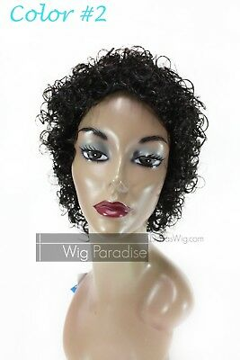 Synthetic Short Jerry Curl Wet Look Michael Jackson Hair Style MZ 110 Wig](Michael Jackson Wig)