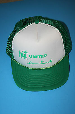 United Insurance Services Inc  Green Foam Mesh Snapback Trucker Baseball Cap Hat