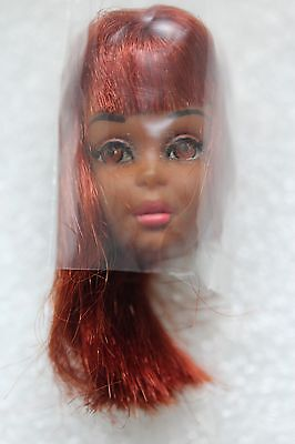 Vintage Black Francie Factory HEAD ONLY with Hair String 1st Version 1966 #1100