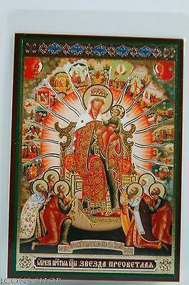 Star Christmas Icon Of God's Mother Звезда Пресветлая Икона Божией Матери