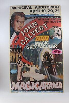 2001 MAGIC SPECTACULAR MAGICARAMA WITH JOHN CALVERT EVENT POSTER
