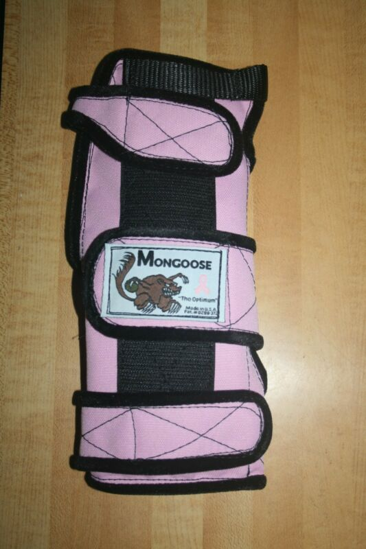 "Mongoose ""Optimum"" Bowling Wrist Band Support, SROP, Right hand, Small, Pink"