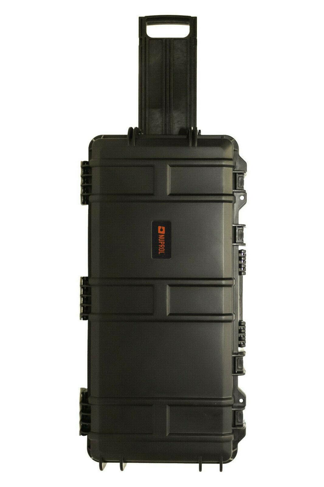 Nuprol SMG Takedown Rifle Egg Foam Padded ABS Hard Case IP67 80 x 39cm