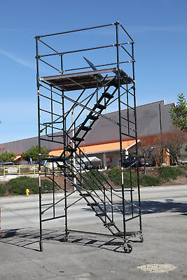Scaffold Stairway Case Rolling Tower 5 X 7 X 142 Deck High Cbm1290