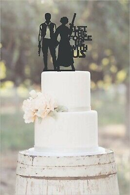Wedding,Anniversary,Cake Topper, Unique, Star Wars, Let the Force Be With Us  - Star Wars Wedding Cake Toppers