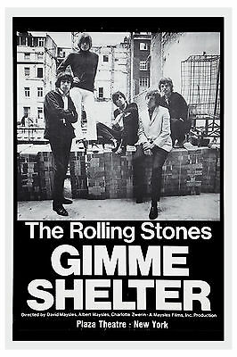 The Rolling Stones Gimme Shelter Plaza Theatre NY USA Movie Poster 1970  13x19