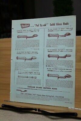 Advertisement Dealer Vintage Fishing Tackle Catalog PAGE 27/28 Heddon Pal Spook