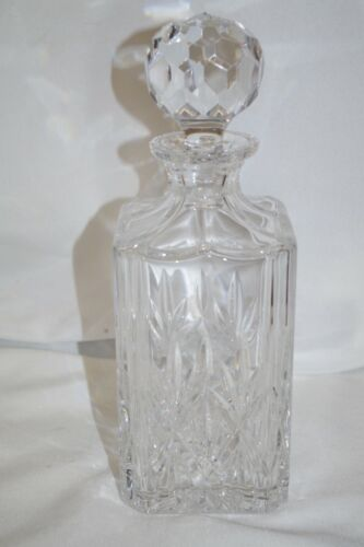 Tiffany & Co. Signed Vintage Clear Cut Crystal Whiskey Decanter Square