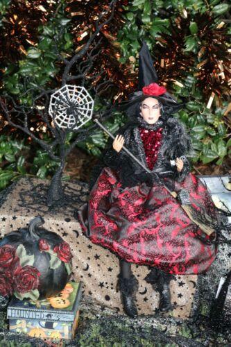 Halloween WITCH doll sitting shelf sitter and PUMPKIN