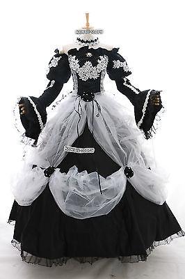 a-265 MIKU Victoria Cosplay Kostüm Gothic Ballkleid ABEND-KLEID Hochzeit - Victoria Kostüm