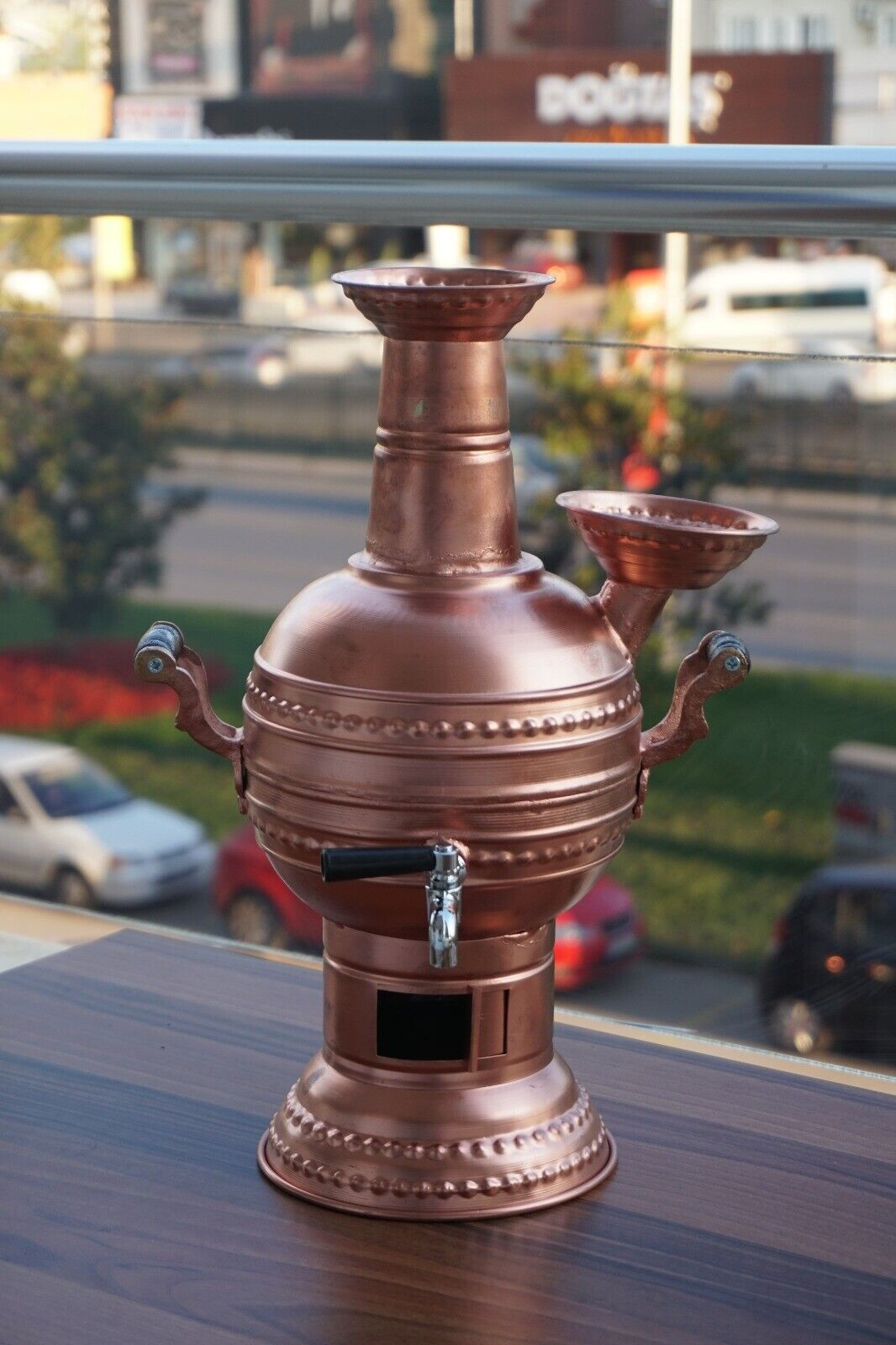 Copper Coal&Wood Samovar Camp Stove Tea Kettle Water Heater