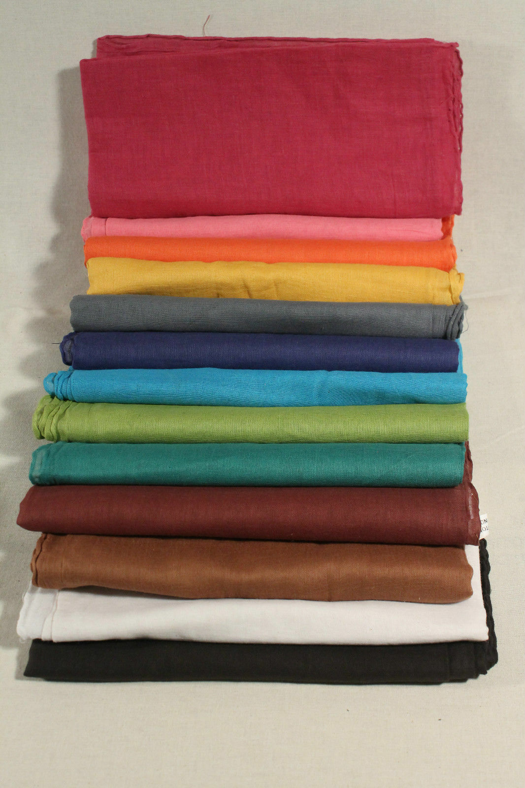 Tuch Bikertuch Halstuch Einfarbig Uni viele Farben 100%BW dünnes Gewebe 95x95 cm