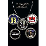 NBA YOUNGBOY 38 Baby 5 piece necklace set lot great gift a must have necklaces