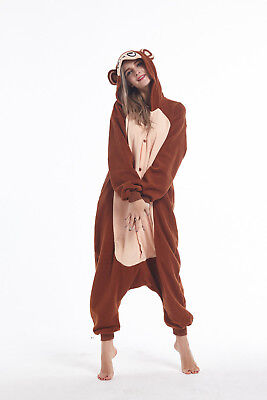 Adult Pajamas Monkey Sleepwear Christmas Animal Cosplay Costume Kigurumi Onesie0 - Monkey Onesie