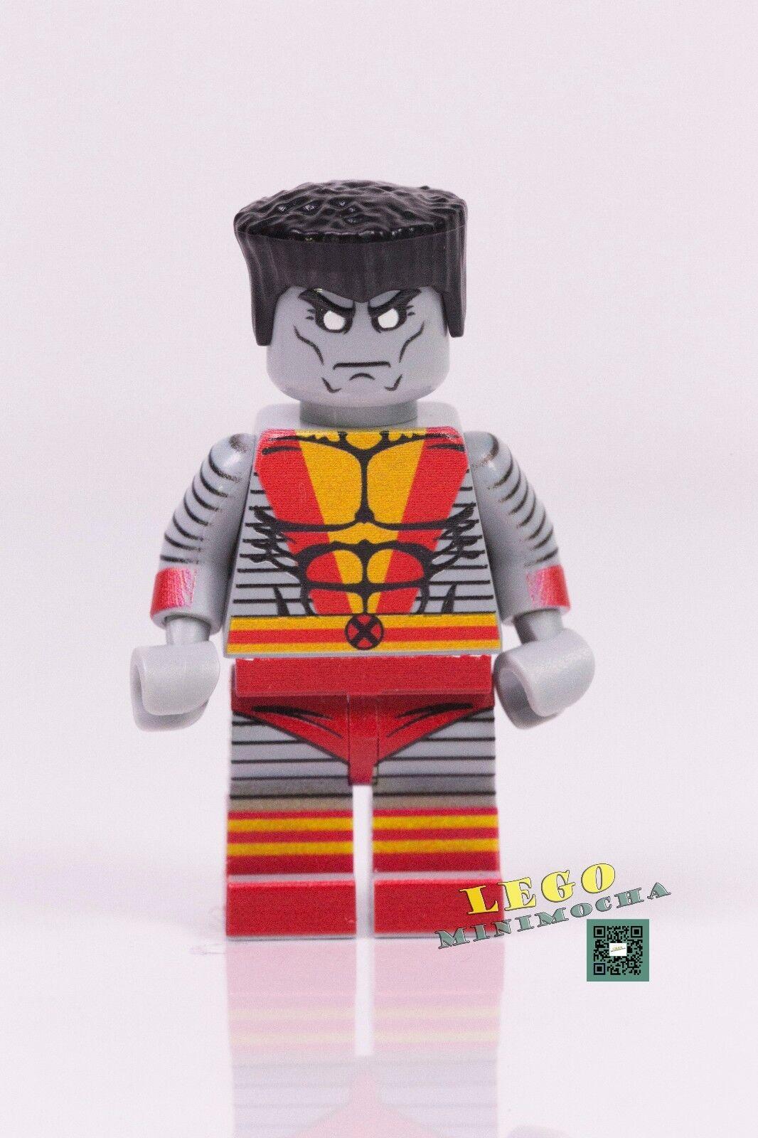 Custom Legends Deadpool v3 Blue Marvel super heroes minifigures on lego bricks