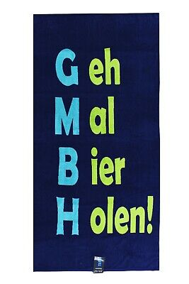 """🍻 Strandtuch Badetuch 90x180 cm 100% Baumwolle """"Bier holen""""  🍺"""