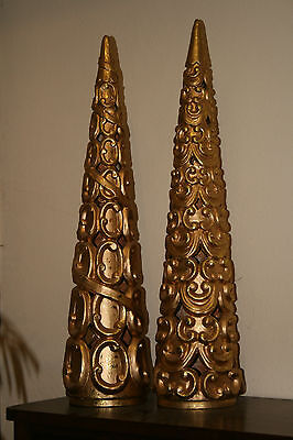 Keramik Kegel goldfarben zur Dekoration - Rarität !!