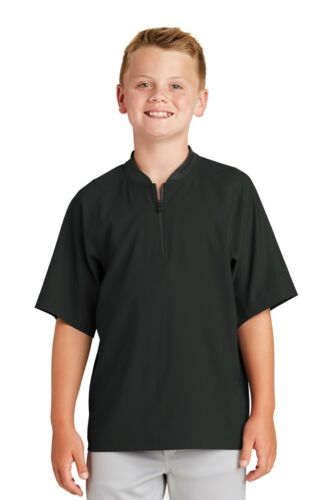 New Era Youth Batting Cage Jacket Short sleeve 1/4 zip