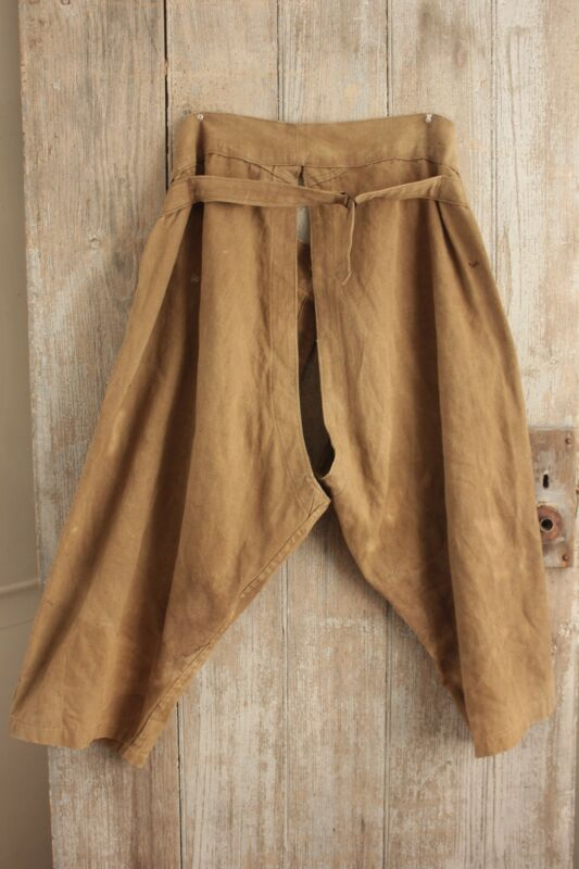 Antique Chaps Linen French work wear pants or trousers vintage 38 inch waist