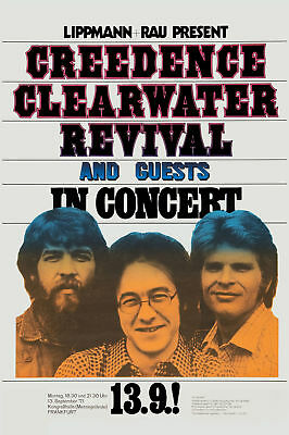 Creedence Clearwater Revival  at German Tour Concert Poster 1971  12x18, used for sale  Los Angeles