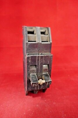 Used Zinsco Sylvania Qc20 Circuit Breaker 20a Amp 2 Pole Type Qc