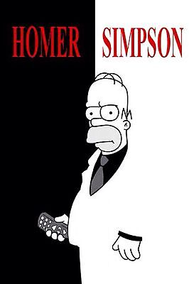 """The Simpsons As Scarface ( 2"""" x 3"""" ) FRIDGE MAGNET (GB)"""