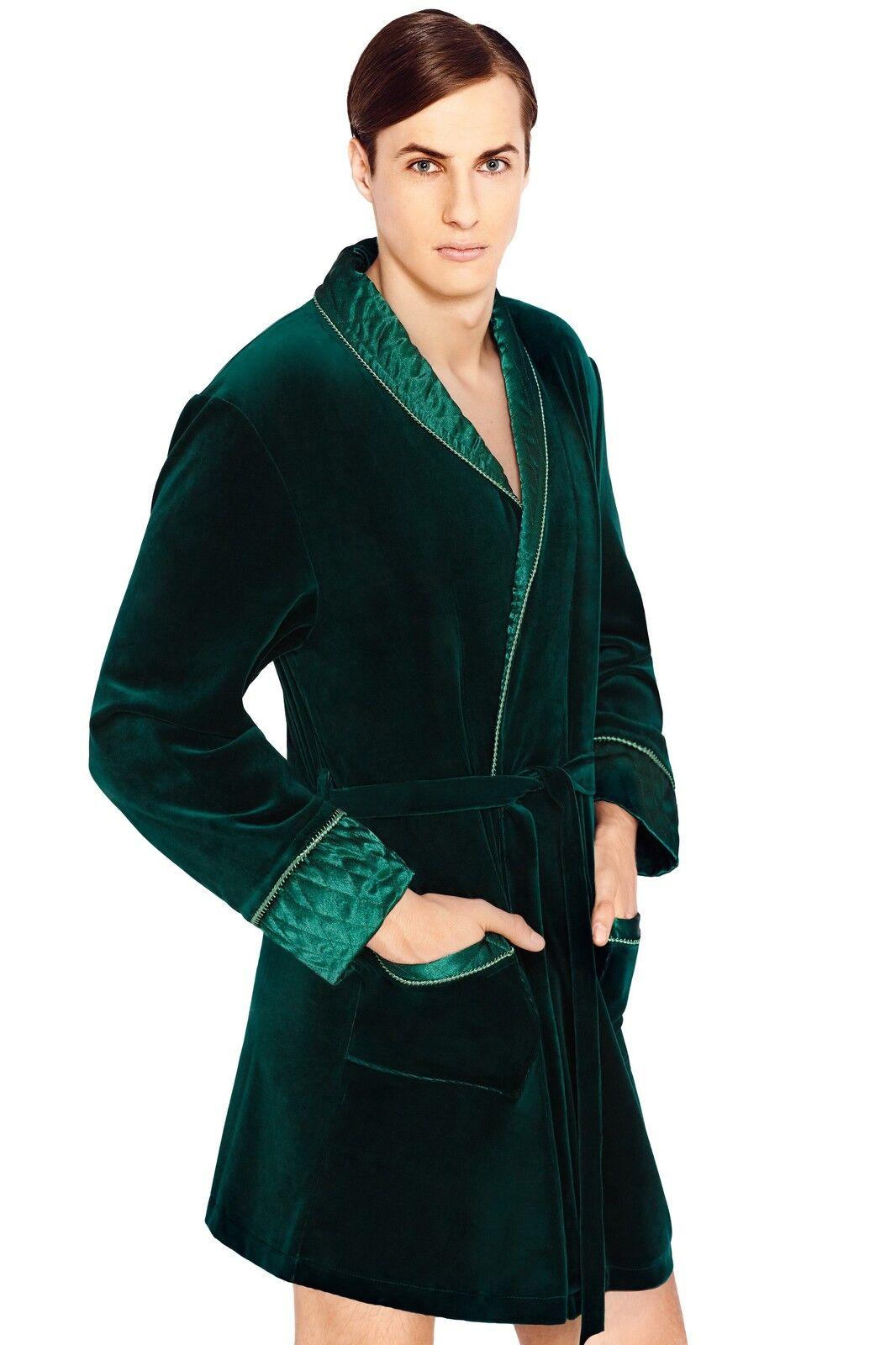 Men Gents Luxury SOFT cotton Bath Robe Housecoat Dressing Gown ...