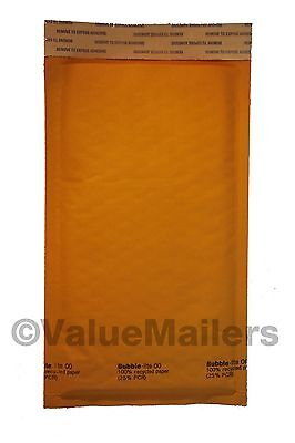 250 00 5x10 Quality Kraft Bubble - Lite Bubble Mailers Envelopes Bags Usa