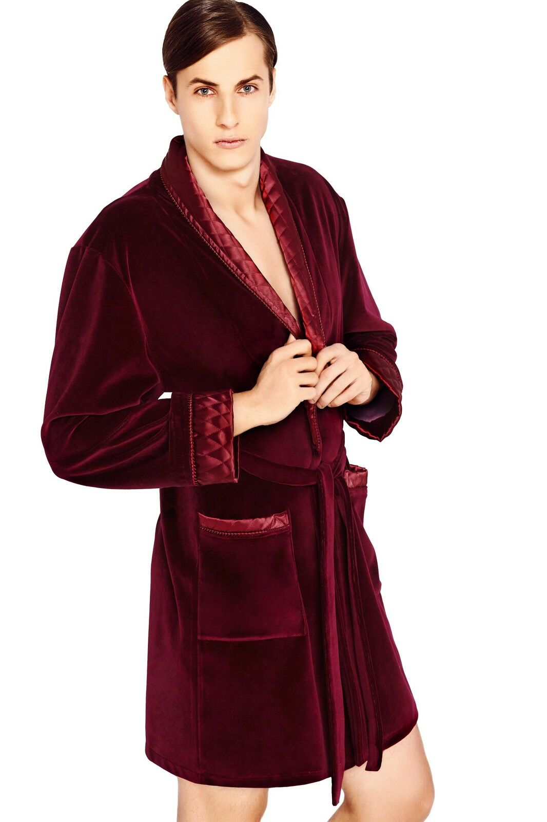 Men Gents Luxury SOFT cotton Bath Robe Housecoat Dressing Gown ...