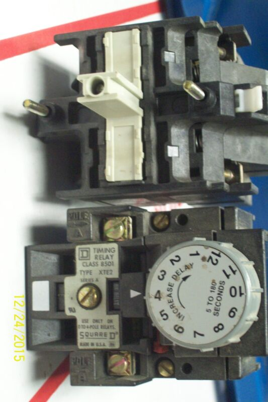 SQUARE D TIMING RELAY CLASS 8501 XTE2
