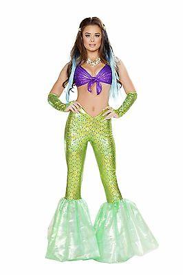 Roma Mermaid Poseidon's Daughter Purple Top & Green Pants Deluxe Costume 4656 - Poseidon Costumes
